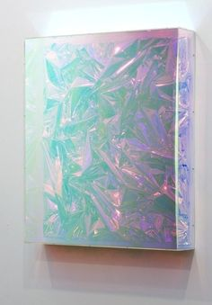 Anselm Reyle. Untitled, 2009 mixed media on canvas, acrylic glass 56 3/8 × 48 × 9 1/8 in 143.2 × 121.9 × 23.2 cm Gagosian Gallery