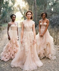 Reem Acra Gowns in blush