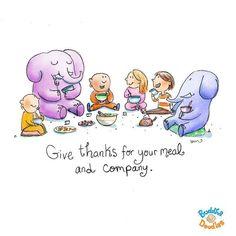 Agradece por tu comida y compañía