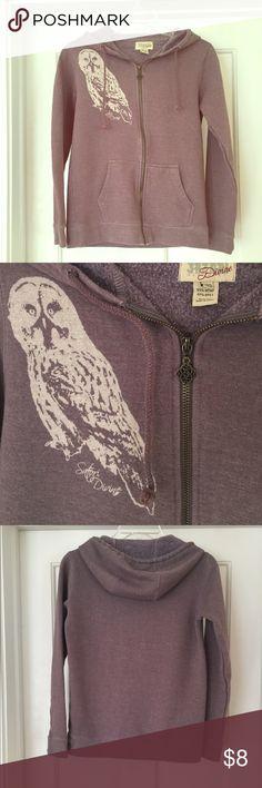 Hemp Owl Hoodie  Pre-owned and loved hemp owl hoodie. Originally Purchased from an earth friendly boutique in Santa Cruz.  saton divine  Tops Sweatshirts & Hoodies