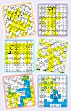 Multiplication coloring sheets multiplication coloring - Tables de multiplication en s amusant ...