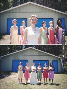 colorful bridesmaid dresses | CHECK OUT MORE IDEAS AT WEDDINGPINS.NET | #bridesmaids