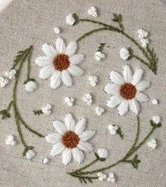 Wonderful Ribbon Embroidery Flowers by Hand Ideas. Enchanting Ribbon Embroidery Flowers by Hand Ideas. Embroidery Flowers Pattern, Hand Embroidery Stitches, Silk Ribbon Embroidery, Crewel Embroidery, Hand Embroidery Designs, Cross Stitch Embroidery, Embroidery Ideas, Embroidery Supplies, Flower Patterns