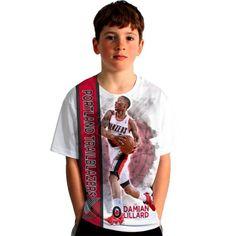 Levelwear Youth Portland Trail Blazers Damian Lillard Breakaway White T-Shirt, Kids Unisex, Size: Medium, Team