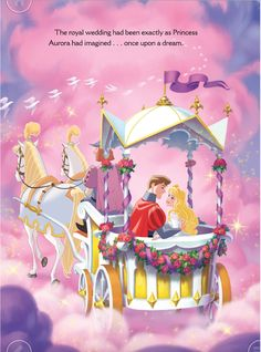 Princess Aurora and Prince Philip in Wedding carriage and lives happily ever after from Aurora's Royal Wedding
