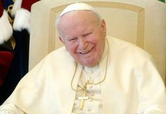 Pope John Paul II filled with laughter