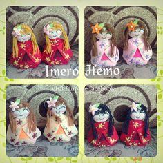 Cute Felt Doll Felt Dolls, Felt Crafts, Cotton Fabric, Lunch Box, Pretty, Cute, Handmade, Hand Made, Cotton Textile