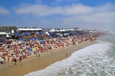 The Nike US Open of Surfing - the largest surf competition in the world takes place every August in Huntington Beach.