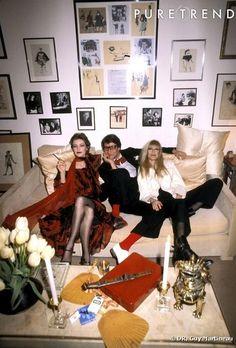 loulou de la falaise   Loulou de la falaise, Yves Saint Laurent et Betty Catroux, Paris 1979