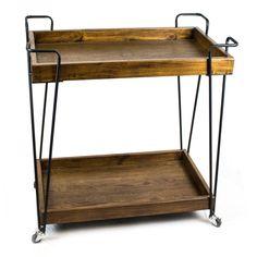 Sagebrook Home Metal / Wood Bar Cart with Wheels - 11801