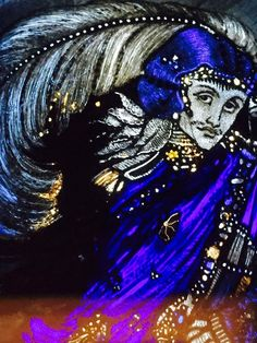 Harry Clarke eve of st agnes 07 Melencolia I, Harry Clarke, St Agnes, Arts And Crafts Movement, Moonlight, Enchanted, Stained Glass, Saints, Illustration