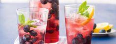 Borůvkový ledový čaj
