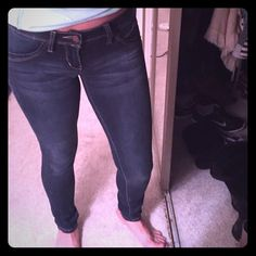 "30% off bundles!  Skinny jeans- stretch material!! ""Wanna Betta Butt?"" YMI brand jeans! Stretchy and skinny leg - worn a couple times only but are like-new condition! Jeans Skinny"