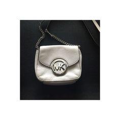 Michael Kors Fulton Leather Crossbody White | eBay found on Polyvore