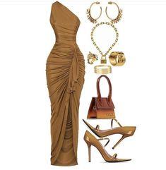 Boujee Outfits, Polyvore Outfits, Classy Outfits, Stylish Outfits, Look Fashion, Girl Fashion, Fashion Dresses, Swag Fashion, Fashion Pants
