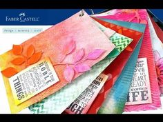 ▶ Designing with Gelatos Kit - YouTube. i like the swatch papers with ring hole in top left corner.
