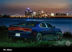 Dodge Charger with the skyline of Detroit City .jpg