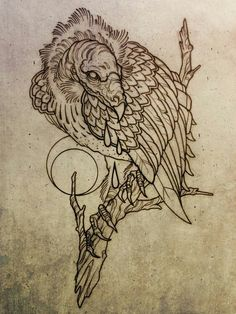 Tattoo Flash A vulture tattoo similar to this. I want the vulture black and white and red smoke around it. Tattoo Sketches, Tattoo Drawings, Body Art Tattoos, New Tattoos, Small Tattoos, Tattoo Art, Arm Tattoo, Drawing Sketches, Tatuagem Old Scholl