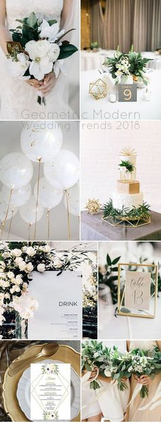 Geometric Themed Modern Wedding Party Inspiration