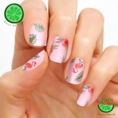 Color Street Flocking Fabulous - nail polish strips in fun patterns featuring flamingos and hibiscus flowers with a creme finish Cute Halloween Nails, Halloween Acrylic Nails, Pink Nail Art, Purple Nails, Funky Nails, Cute Nails, Gel Nails At Home, Oval Nails, Nail Polish Strips
