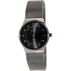 Prepare for an elegant night out on the town with the sultry, contemporary stainless steel stylish watch for women from Skagen.