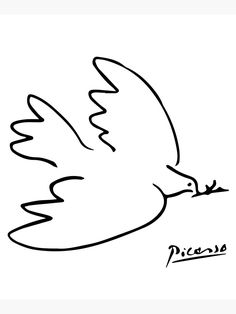 Pablo Picasso Artwork, Picasso Cubism, Picasso Paintings, Picasso Prints, Picasso Sketches, Drawing Sketches, Pablo Picasso Zeichnungen, Picasso Dove Of Peace, Peace Drawing