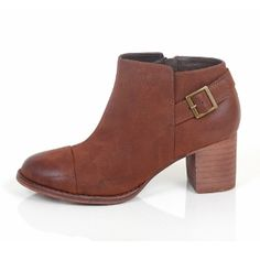 Restricted Country Boot in Whiskey On SALE! This block heel bootie has a decorative side buckle making it perfect to pair with jeans for a day of errands but dressy enough for a night on the town!