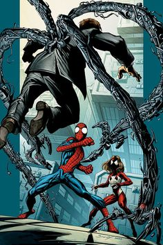 Ultimate Spider-Man and Spider-Woman by Mark Bagley