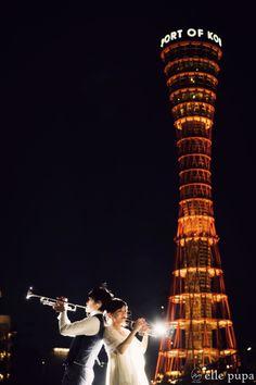 神戸の街とポートタワーも一緒に前撮り* |*ウェディングフォト elle pupa blog*|Ameba (アメーバ)