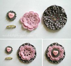 Crocheted brooch or trim--so cute!