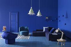 All Dazzling Blue room.  (Pantone 18-3949 Dazzling Blue)