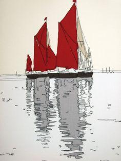 Boats by Gillian Bates