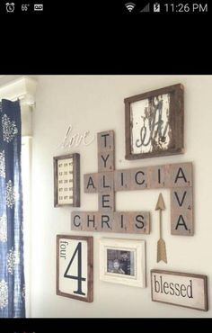A lot of methods of work DIY wood household scrabble tile wall art layout may be fantastic alternative to decorate the home. For that reason, it is appropriate to use . Read Good DIY Wood Family Scrabble Tile Wall Art Design For Home Decoration Scrabble Tile Wall Art, Scrabble Letters For Wall, Scrabble Tile Crafts, Kids Letters, Paper Letters, Diy Casa, Creation Deco, Home And Deco, Home Projects
