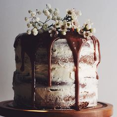 Tamarind Date Cake With Buttercream And Tamarind Caramel. Get this and 25+ more Layer Cakes recipes at https://feedfeed.info/layer-cakes
