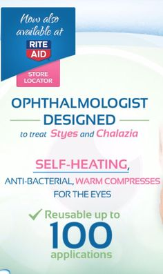 Ophthalmologist-designed self-heating eye compresses that helps relieve symptoms from sties, blepharitis, dry eyes, pink eye, and eye irritation.www.eye-press.com