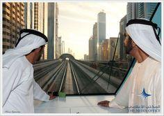 Hamdan MRM y Mohammed RSM, inauguración del Dubai Metro Green Line (09/09/2011)