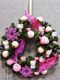 Hello Kitty Christmas Wreath