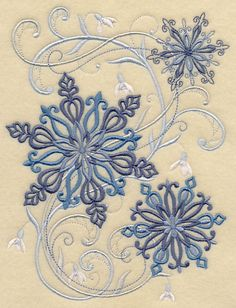 Snowflake Potpourri design (H9461) from www.Emblibrary.com