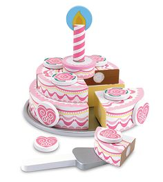 Triple-Layer Party Cake - Wooden Play Food | All Food Play | Melissa and Doug