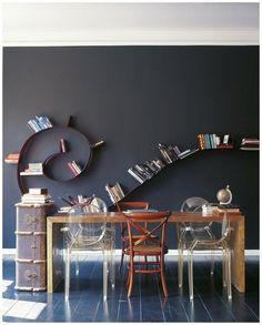 swirling wall shelf
