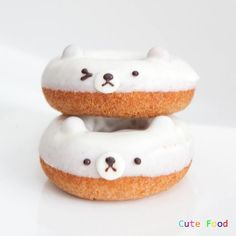 Polar Bear donuts, almost too cute to eat...(almost)