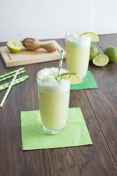 Lime Sherbet Floats: Couple of squeezes of fresh lime juice 4 tbsp pineapple juice 1 cup ginger ale 1 and 1/2 scoops of lime sherbet, using ice cream scoop lime slices for garnish