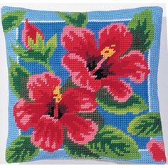 Crème et rose chaud brodé fleur design Evans Lichfield Coussin Couverture