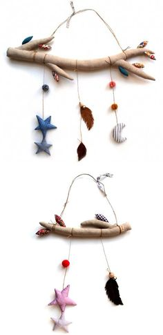 Soft mobiles, love these. #kids #nursery #decor