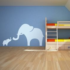 Mama and Baby Elephant Wall Decal Wallums