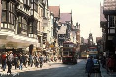Eastgate Street in Chester. 1st May 1977