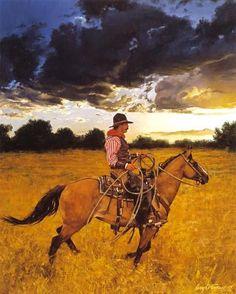 """""""Sundowner"""" -Western Paintings Craig Tennant's Cowboy & Western Art Reproductions. - Craig Tennant Cowboy Prints"""