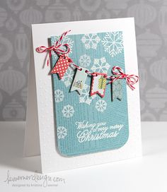 kwernerdesign log Day 10  Use all those Christmas paper scraps!
