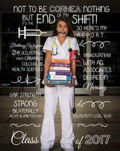Nursing School Graduation Invitation. Nursing Graduation Pictures. Nursing Senior Pictures.
