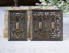 Light Switch Plate Cover - Electrical - Resin floral switch plate cover - Cottage house by The1608shop on Etsy